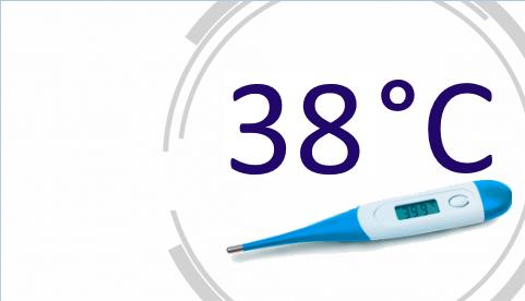 Температура 38,4